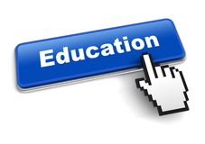 Education concept 3d illustration isolated. On white background Royalty Free Stock Photo