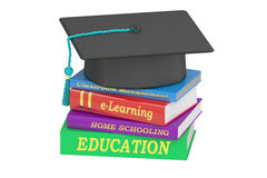 Education concept, 3D rendering. On white background Royalty Free Stock Photography
