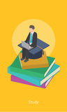 Education concept design 3d isometric  illustration Stock Photo