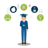 Education concept design. Illustration eps10 graphic Royalty Free Stock Image