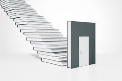 Education concept door and ladder Stock Photography