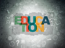 Education concept: Education on Digital Paper Stock Images