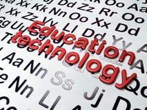 Education concept: Education Technology on. Alphabet background, 3d render vector illustration