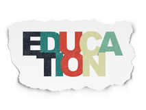 Education concept: Education on Torn Paper Stock Image