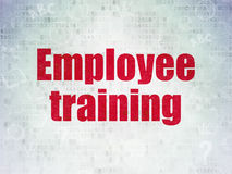 Education concept: Employee Training on Digital Data Paper background Stock Photography