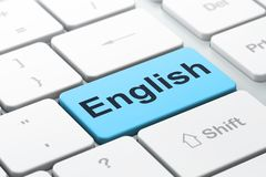 Education concept: English on computer keyboard background Royalty Free Stock Photo