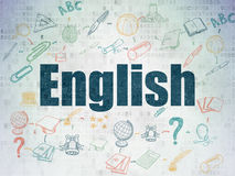 Education concept: English on Digital Paper Royalty Free Stock Photography