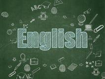 Education concept: English on School Board Stock Photo