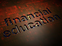 Education concept: Financial Education on digital screen background Stock Images