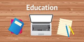 Education. Concept flat design banner website vector illustration Vector Illustration
