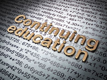 Education concept: Golden Continuing Education on Royalty Free Stock Photo