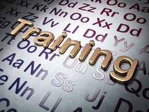 Education concept: Golden Training on Alphabet background Stock Image