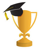Education concept of the graduation illustration Stock Images