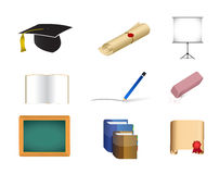 Education concept icon set illustration Royalty Free Stock Photos