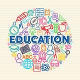 Education concept illustration Stock Photos