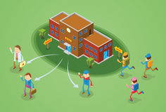 Education concept. Illustration of people in education concept Stock Photo