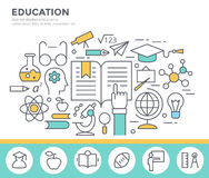 Education concept illustration. Royalty Free Stock Images