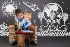 Education concept. Imagination and fantasies royalty free stock photos