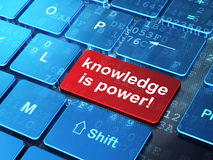 Education concept: Knowledge Is power! on computer keyboard back Royalty Free Stock Photo