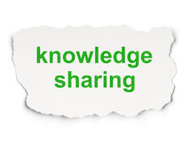Education concept: Knowledge Sharing on Paper background Stock Image