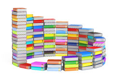 Education concept, ladder from books. 3D rendering. On white background Royalty Free Stock Photo
