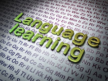 Education concept:  Language Learning on Alphabet background Royalty Free Stock Image