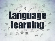Education concept: Language Learning on Digital Royalty Free Stock Images