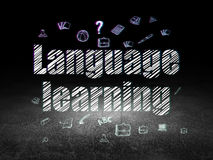 Education concept: Language Learning in grunge Royalty Free Stock Images