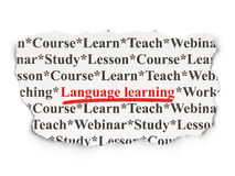 Education concept: Language Learning on Paper Royalty Free Stock Images
