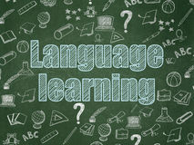 Education concept: Language Learning on School Stock Photography