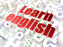 Education concept: Learn English on alphabet Stock Photography