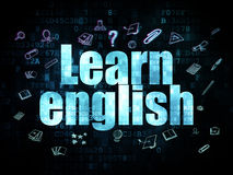 Education concept: Learn English on Digital Stock Images
