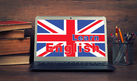 Education concept. learn english online Royalty Free Stock Photo