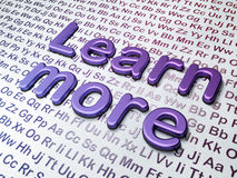 Education concept: Learn More on Alphabet Royalty Free Stock Images