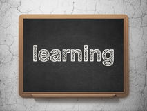 Education concept: Learning on chalkboard background Stock Image