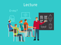 Education concept learning and lectures icon Royalty Free Stock Photos