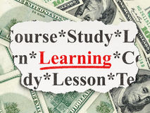 Education concept: Learning on Money background Royalty Free Stock Images