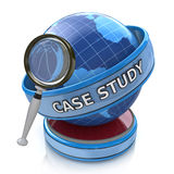Education concept: magnifying optical glass with words Case Stud Stock Photo