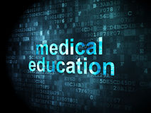 Education concept: Medical Education on digital background Stock Photography