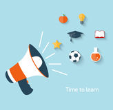 Education concept with megaphone Stock Photos