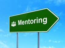 Education concept: Mentoring and Business People Royalty Free Stock Photos