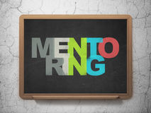 Education concept: Mentoring on School Board Royalty Free Stock Images