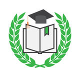 Education concept with mortarboard Royalty Free Stock Photo
