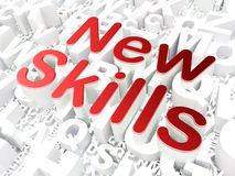 Education concept: New Skills on alphabet Royalty Free Stock Photography