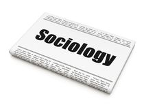 Education concept: newspaper headline Sociology. On White background, 3D rendering Royalty Free Stock Image