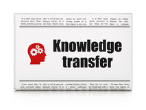 Education concept: newspaper with Knowledge Royalty Free Stock Photo