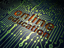 Education concept: Online Education on circuit board background Stock Image