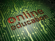 Education concept: Online Education circuit board Royalty Free Stock Photography