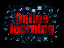 Education concept: Online Learning on Digital Stock Photo