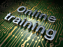Education concept: Online Training on circuit Royalty Free Stock Image